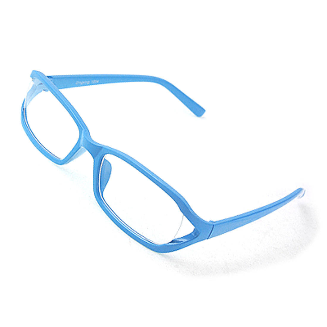 Sky-Blue-Full-Rim-Clear-Lens-Plastic-Glasses-Eyeglasses