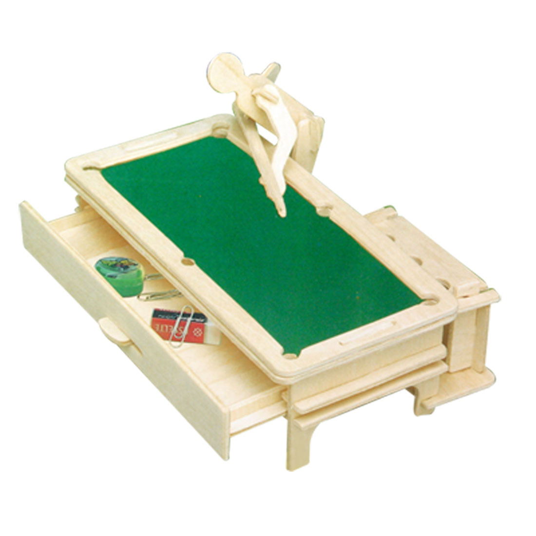Snooker-DIY-Pen-Holder-Woodcraft-Construction-Kit-New