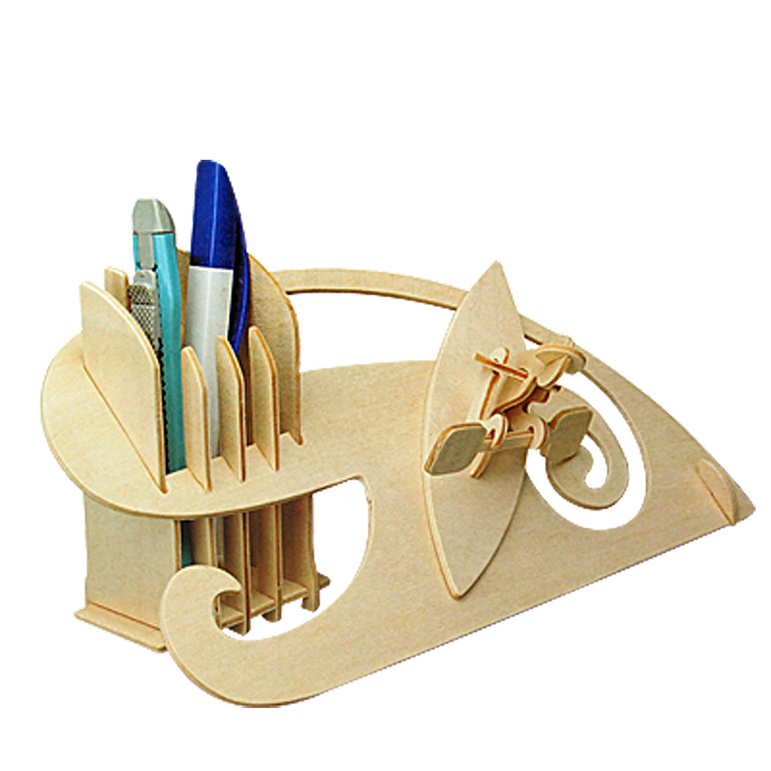 Kayak-Pen-Container-Wooden-Construction-Kit-Holder-New