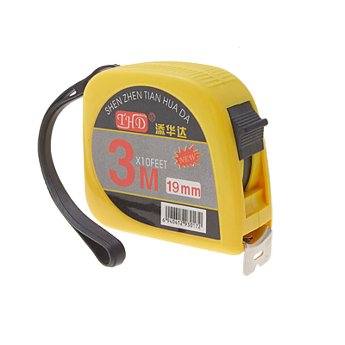 Yellow-Black-Plastic-Housing-3-Meters-Tape-Measure-Tool