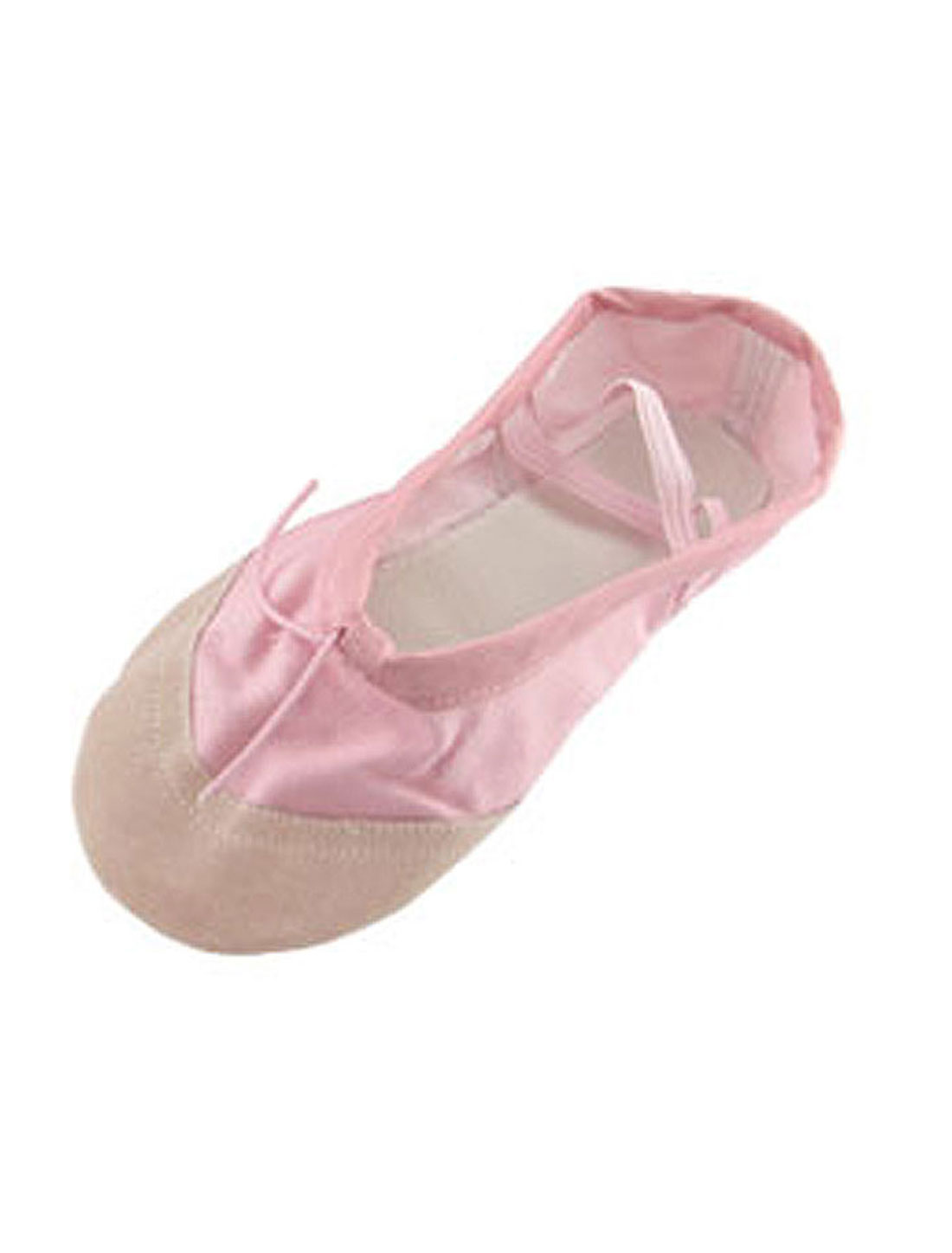 Girls-US-Sz-2-5-Pink-Elastic-Band-Flat-Ballet-Dance-Shoes