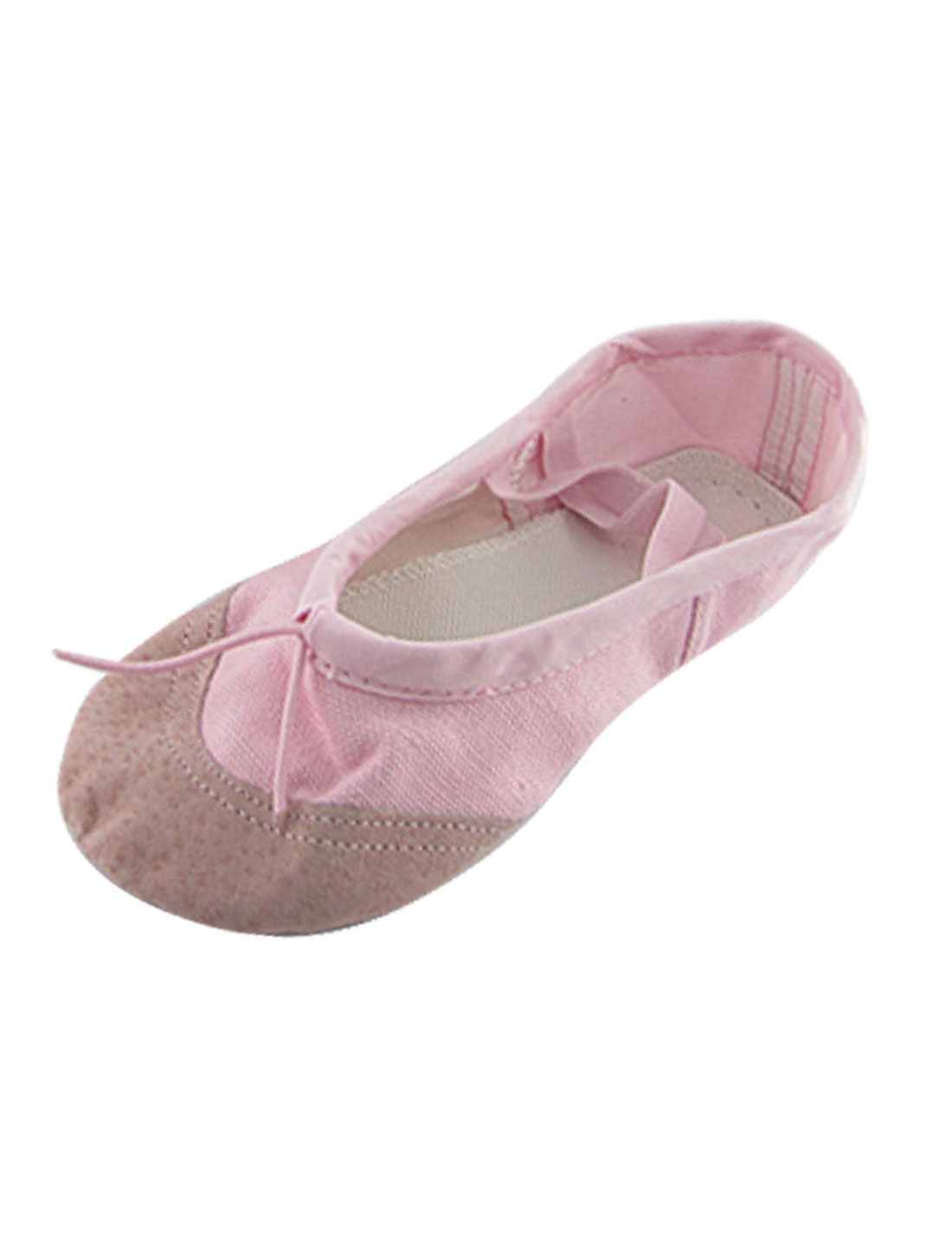 Girls-US-Sz-13-5-Pink-Canvas-Adjustable-Band-Dancing-Ballet-Shoes