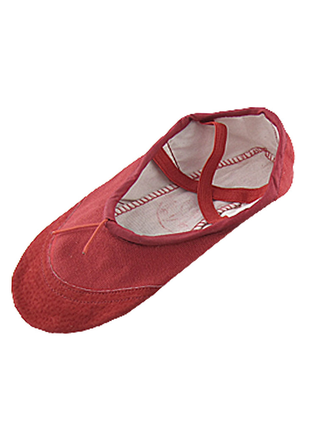 US-Sz-1-Dance-Ballet-Canvas-Flat-Red-Shoes-for-Girls