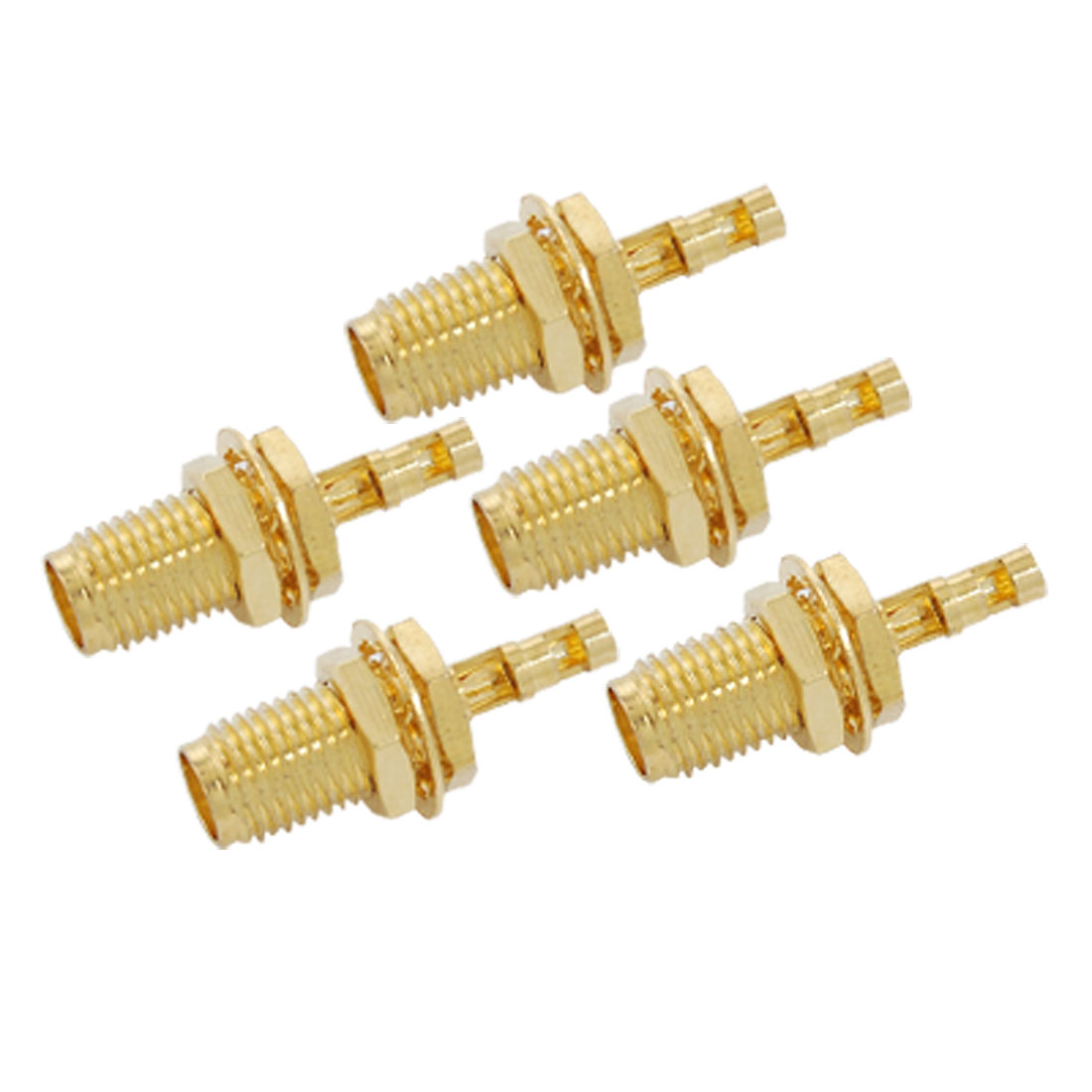 5pcs-Double-Window-SMA-Female-Nut-Bulkhead-Crimp-RG174-RG316-LMR100-RF-Connector