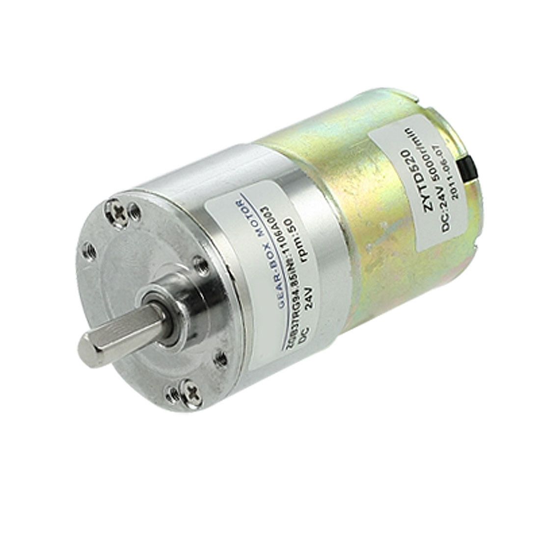 Electric-37mm-Gearbox-Dia-DC-Geared-Motor-0-33A-50RPM-24V