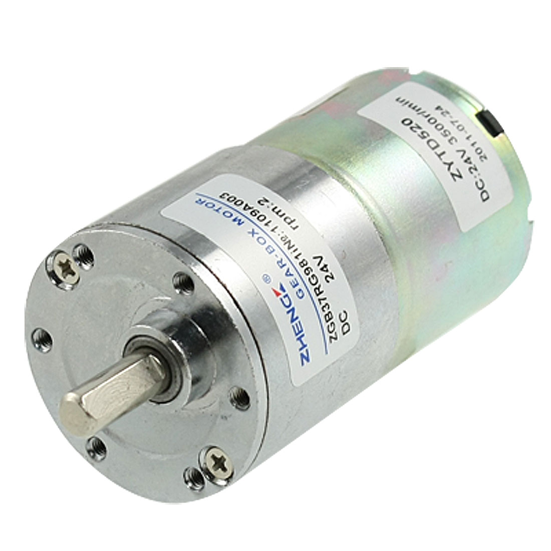 2RPM-Speed-16-5kg-cm-6mm-Diameter-Shaft-DC-24V-0-33A-Geared-Motor