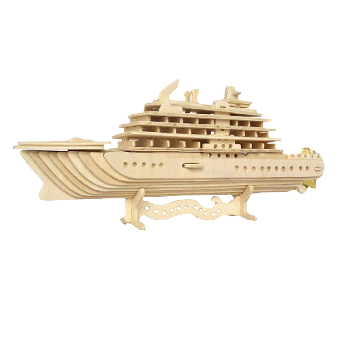 Assemble-Luxury-Yacht-Model-DIY-Puzzle-Wood-Construction-Kit-Gift-Zilqz