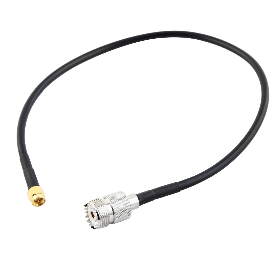 SMA-Male-to-UHF-Female-Connector-Pigtail-Cable-Black-40CM