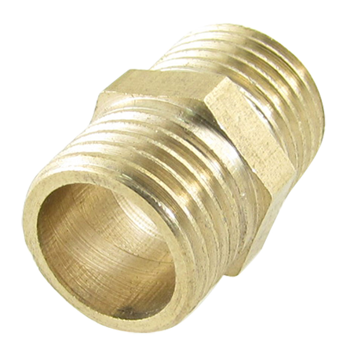 Brass-1-4-PT-x-1-4-PT-Male-Thread-Pneumatic-Pipe-Hex-Nipple-Equal-Union