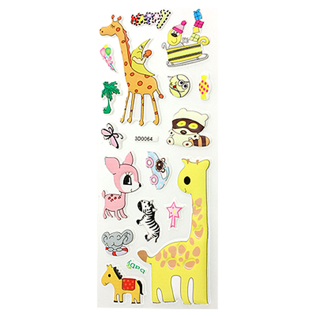 Phone-MP3-Desk-Clock-3D-Foam-Ornament-Animals-Shape-Stickers-18-Pcs