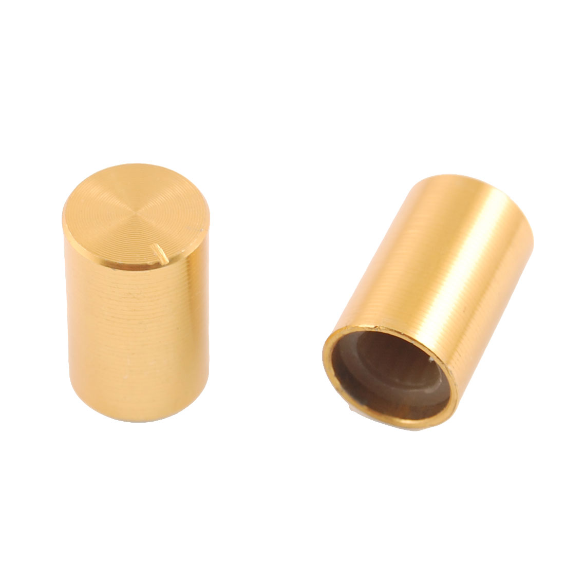 5-Pcs-10mm-x-15mm-Aluminum-Rotary-Knobs-Gold-Tone-for-Potentiometer