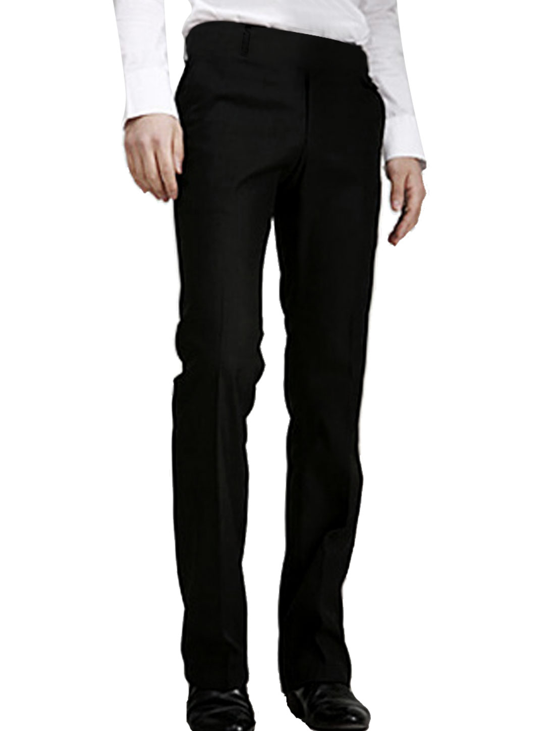 Unique Bargains Mens Casual Slim Fit Dress Pants Trousers Black W30 NEW at Sears.com