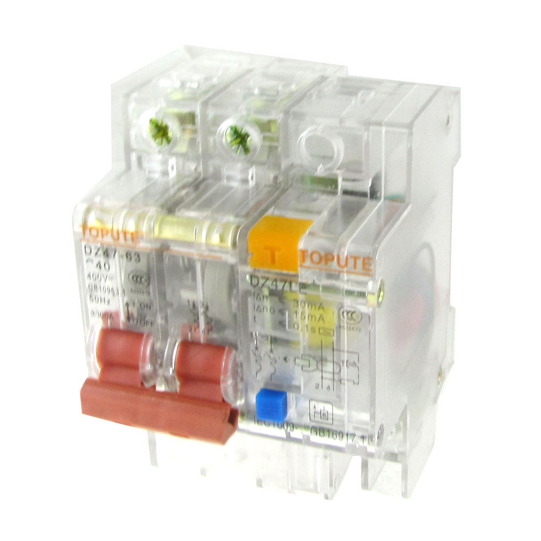Transparent-AC-400V-40A-2-Poles-2P-Earth-Leakage-Circuit-Breaker