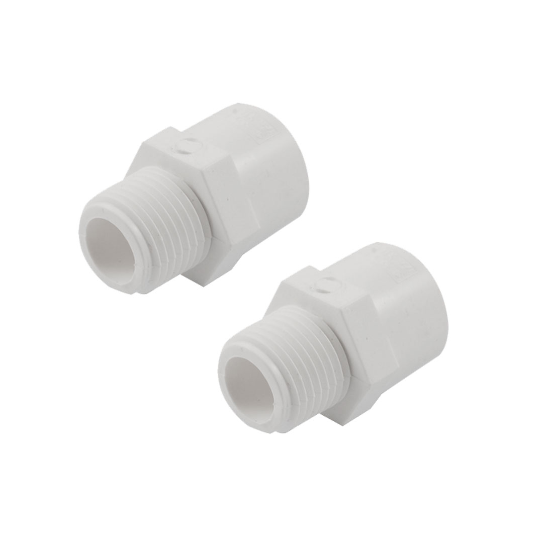 1-2-PT-PVC-Straight-Water-Hose-Piping-Connectors-Couplers-x-2