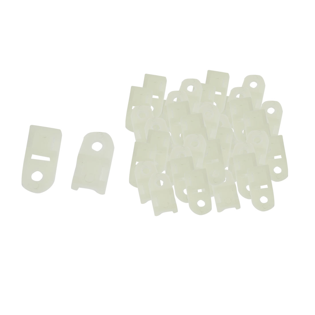 100-Pcs-Saddle-Type-5mm-Cable-Tie-Plastic-Mount-Plastic-White