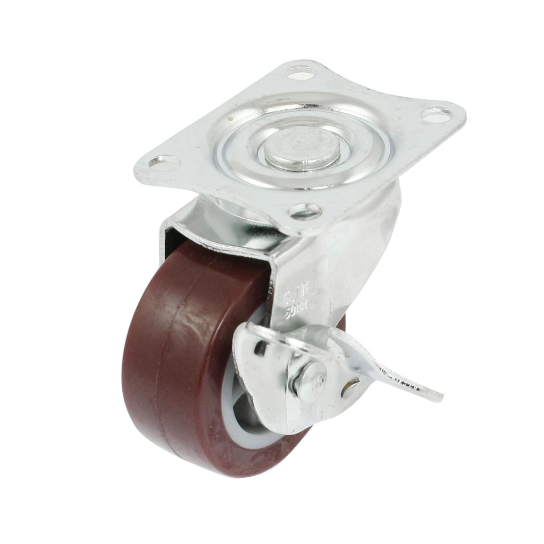 48mm-x-20mm-Light-Duty-Fixed-Type-Burgundy-PP-Industrial-Caster-Wheel