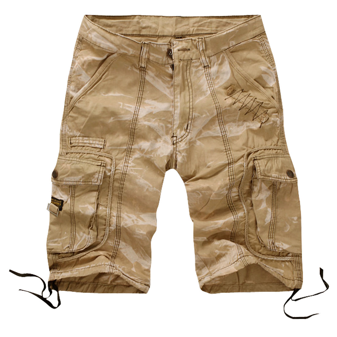 Unique Bargains Mens NEW Stylish Straight Walking Short Pants Cargo Shorts Medium Khaki W32 at Sears.com
