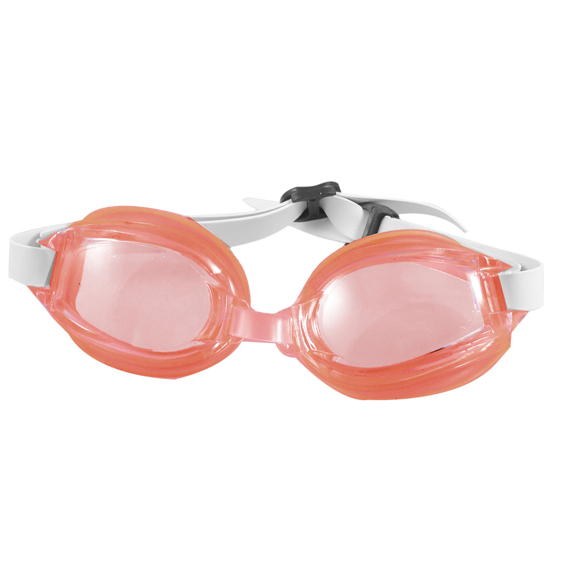 Child-Clear-Red-Plastic-Lens-Adjustable-Strap-Swimming-Goggles