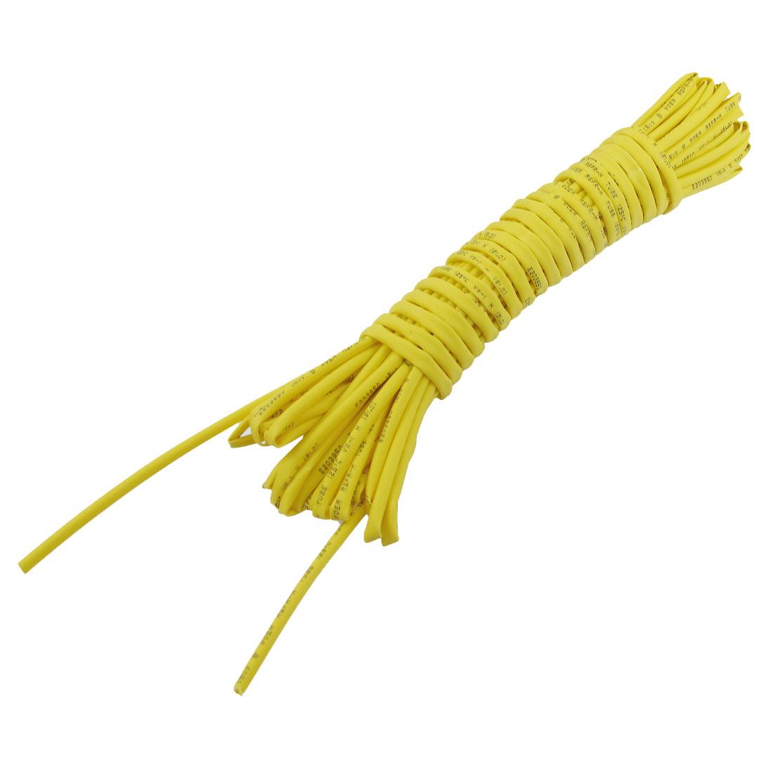 Ratio-2-1-1mm-Dia-Yellow-Polyolefin-Heat-Shrinkable-Tube-6M-19-7Ft