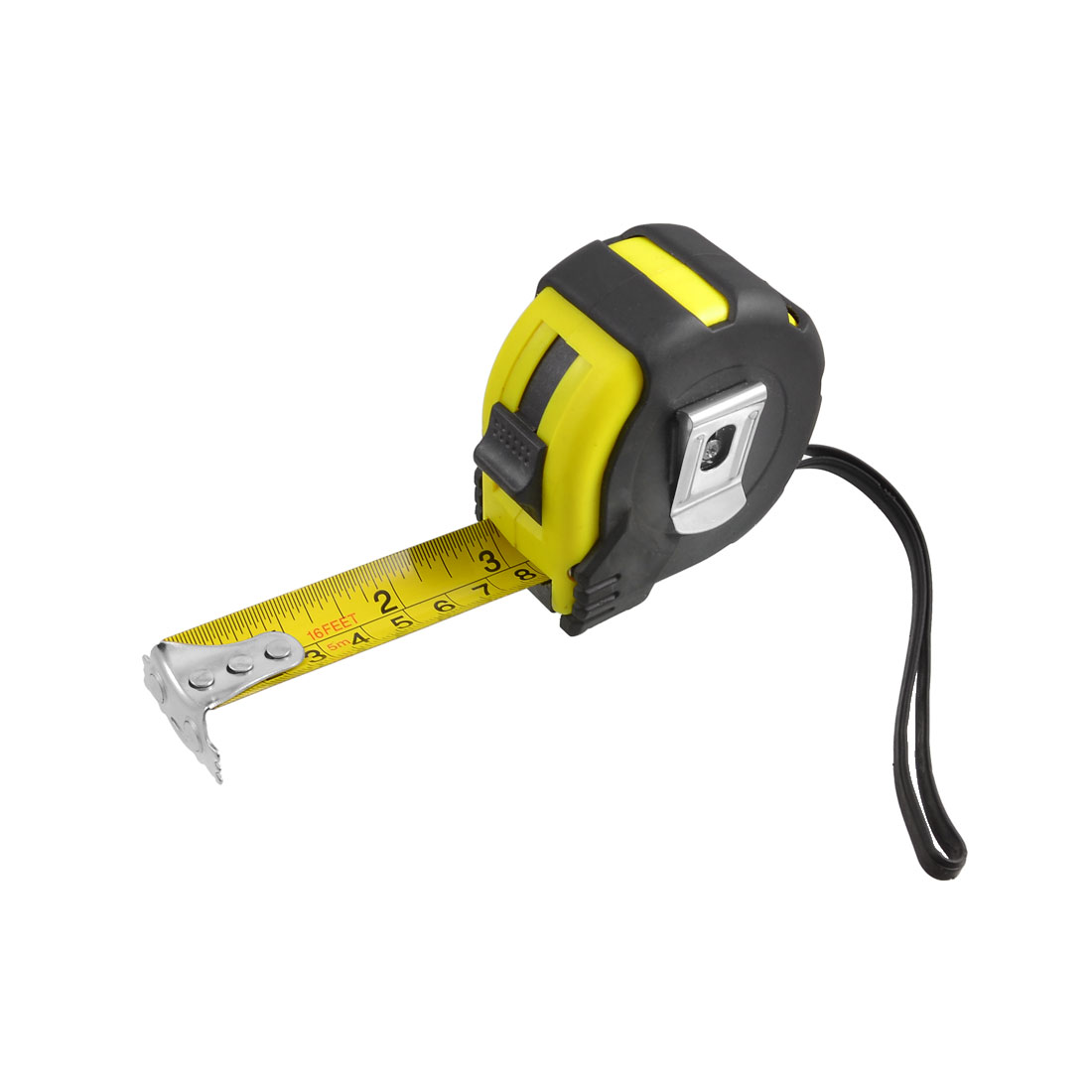 5M-16Ft-Length-Retractable-Magnetic-Carpenter-Ruler-Tape-Measuring-Tool-w-Strap