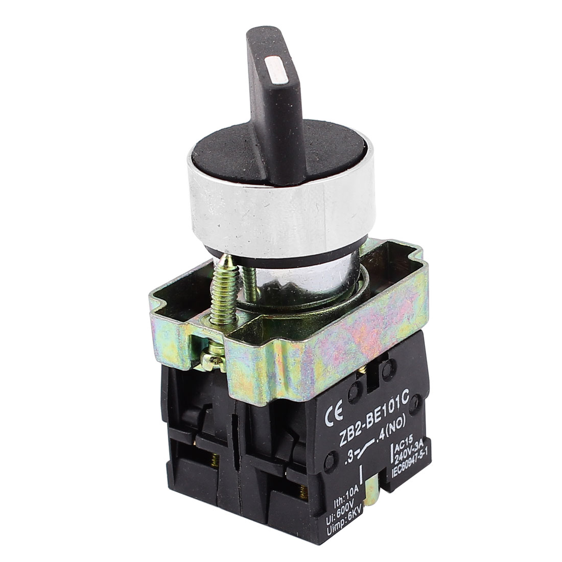 AC-660V-10A-On-Off-On-Self-Lock-3-Postion-Rotary-Selector-Switch-22mm-ZB2-BE101C