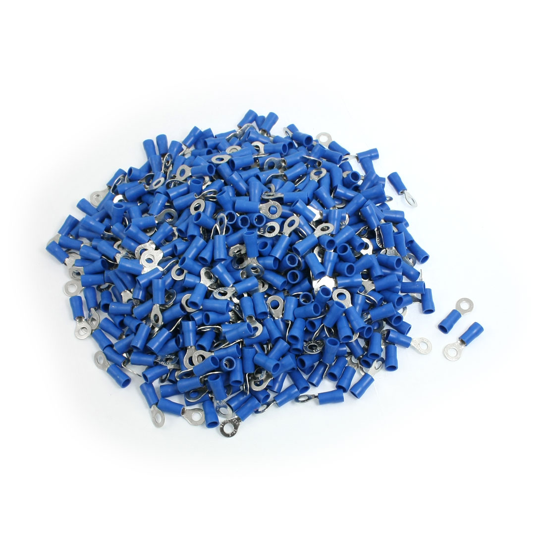 1000-x-Blue-PVC-Insulating-Sleeve-Ring-Terminals-Cable-Lug-RV2-4L-AWG-16-14