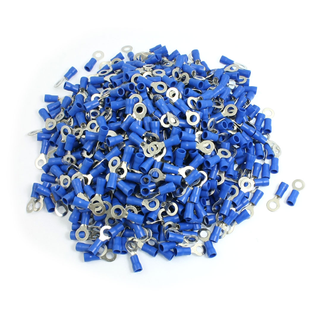 1000-x-Blue-PVC-Insulating-Sleeve-Ring-Terminals-Cable-Lug-RV2-5L-AWG-16-14