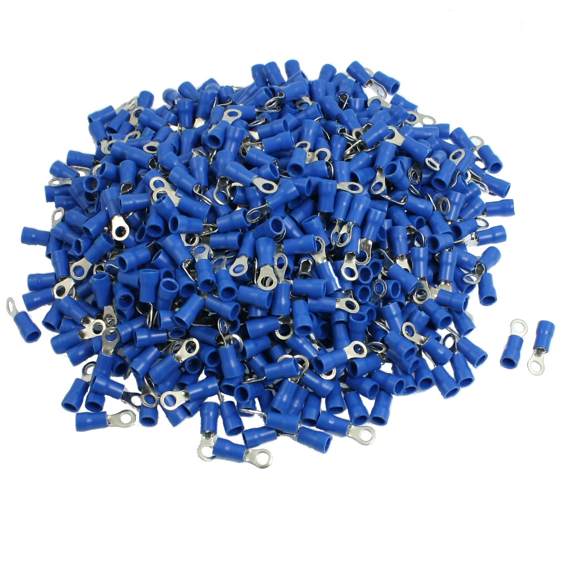 1000-x-Blue-PVC-Insulating-Sleeve-Ring-Terminals-Cable-Lug-RV2-4S-AWG-16-14