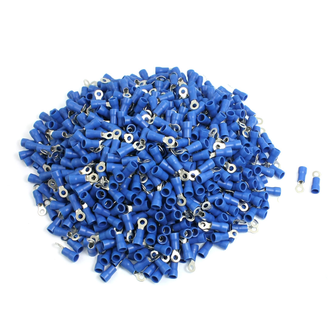 1000-x-Blue-PVC-Insulating-Sleeve-Ring-Terminals-Cable-Lug-RV2-3-2-AWG-16-14