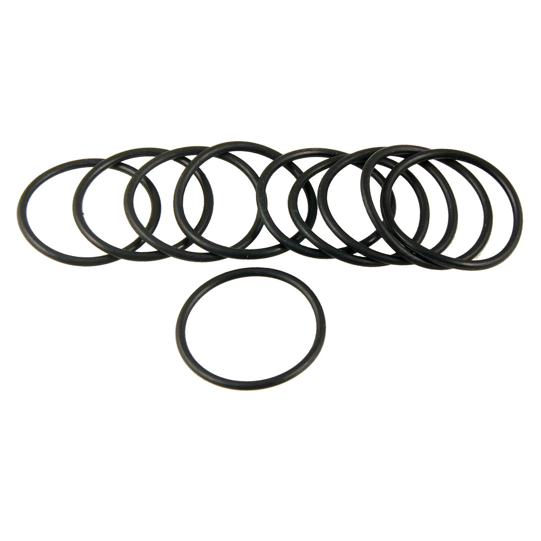 28mm-x-2mm-Automobile-NBR-O-Rings-Hole-Sealing-Gaskets-Washers-10-Pcs