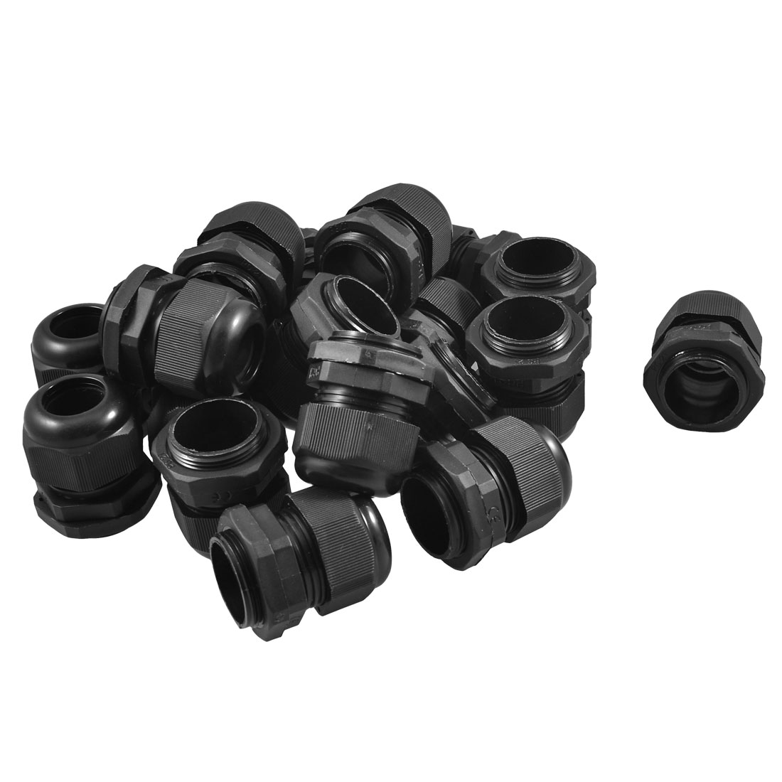 Black-Plastic-Waterproof-Connector-PG21-13-18mm-Diameter-Cable-Gland-20PCS