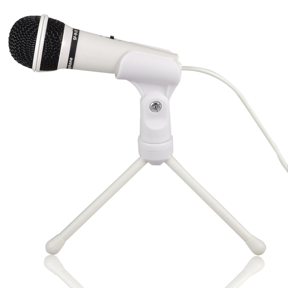Unique Bargains Adjustable Stand 3.5mm Plug Condenser Sound Microphone Mic for PC Laptop at Sears.com