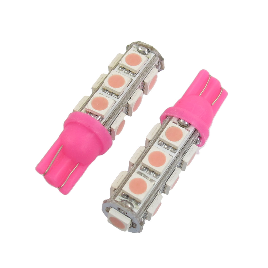2-Pcs-T10-194-168-W5W-Pink-5050-SMD-13-LED-Car-Light-Bulb-lamp-12V