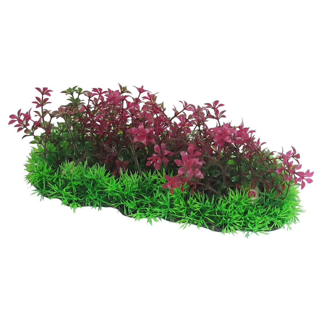 3-9-Height-Aquarium-Fish-Tank-Fuchsia-Green-Plastic-Water-Plants-Ornament