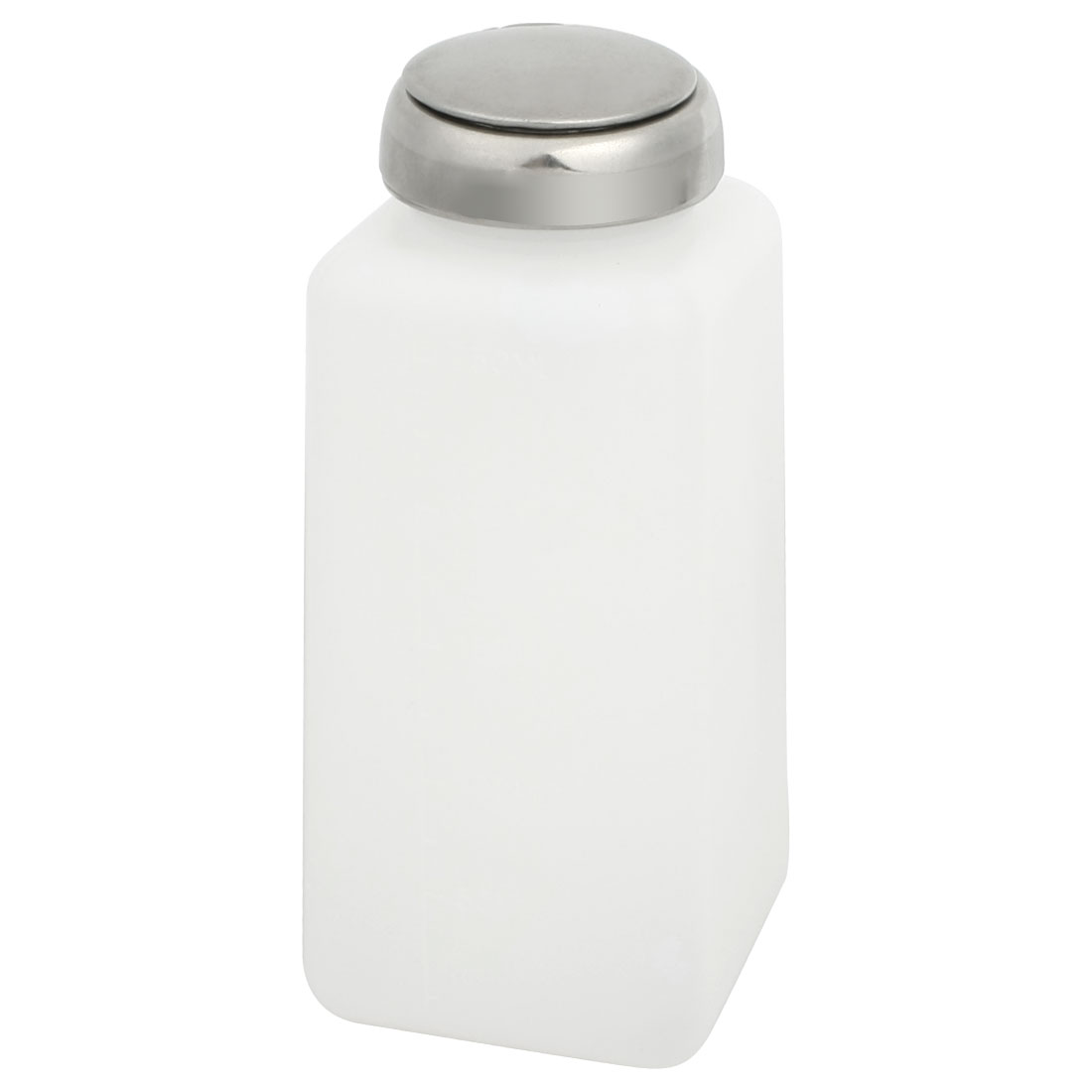 Silver-Tone-Metal-Cap-Liquid-Container-Alcohol-Bottle-250ml-Capacity