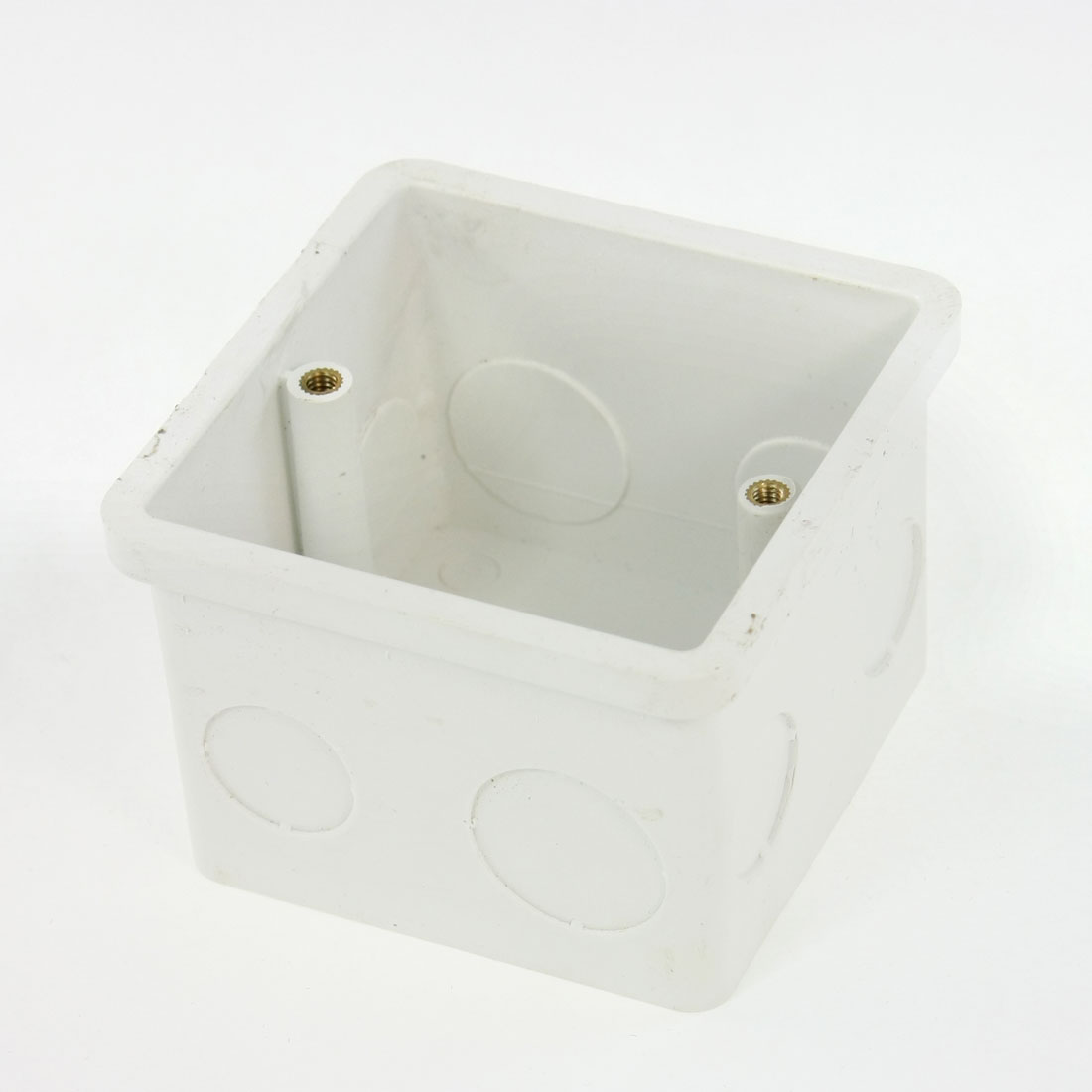 80x80x57mm-Flush-Type-PVC-Wall-Mounted-Single-Gang-Junction-Box-White