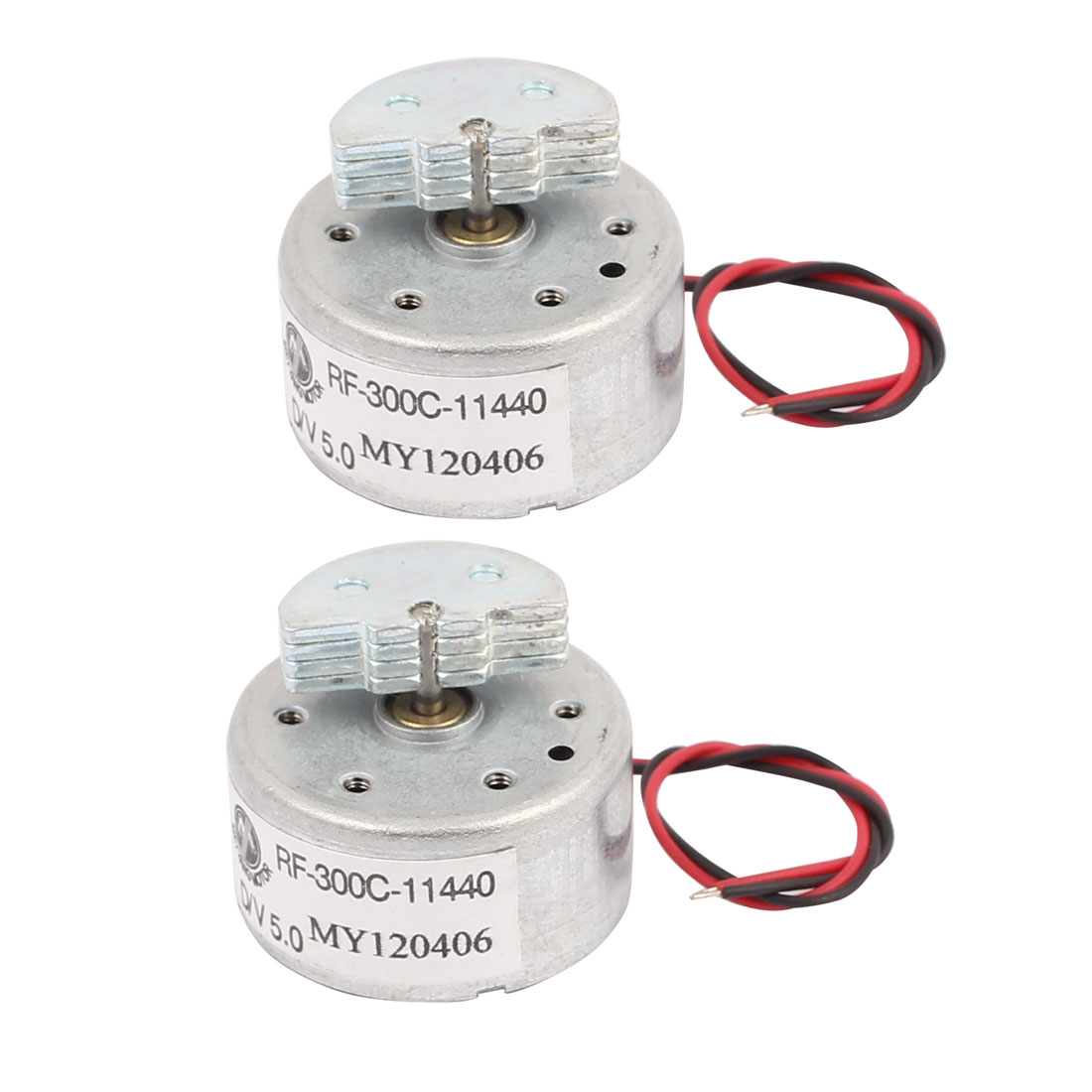 2-Pcs-1700RPM-Load-Speed-DC-2V-Round-Micro-Vibration-Motor-RF300-for-RC-DIY
