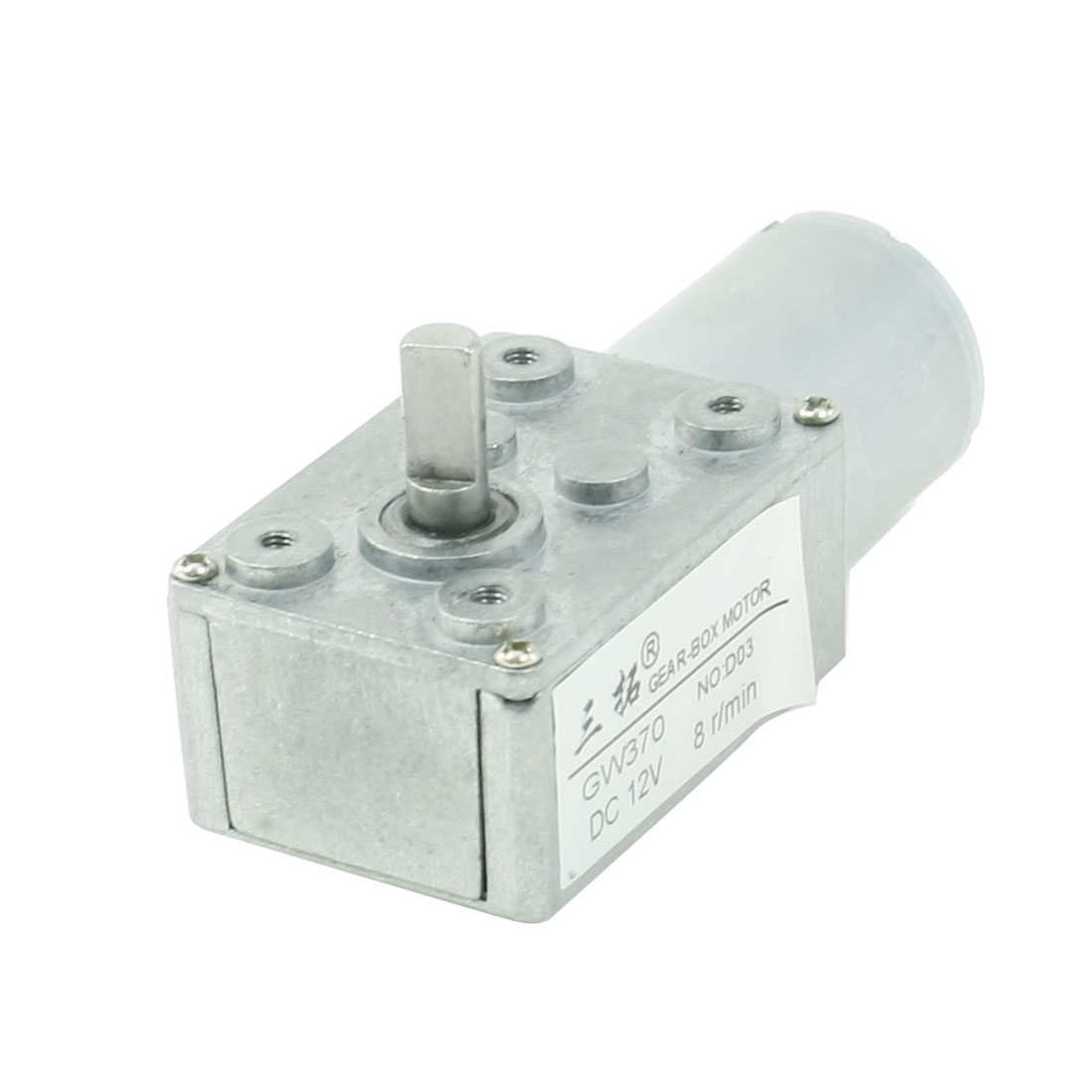 6mm-Shaft-Rectangle-Gear-Box-2-Terminals-Electric-Geared-Motor-DC-12V-8RPM