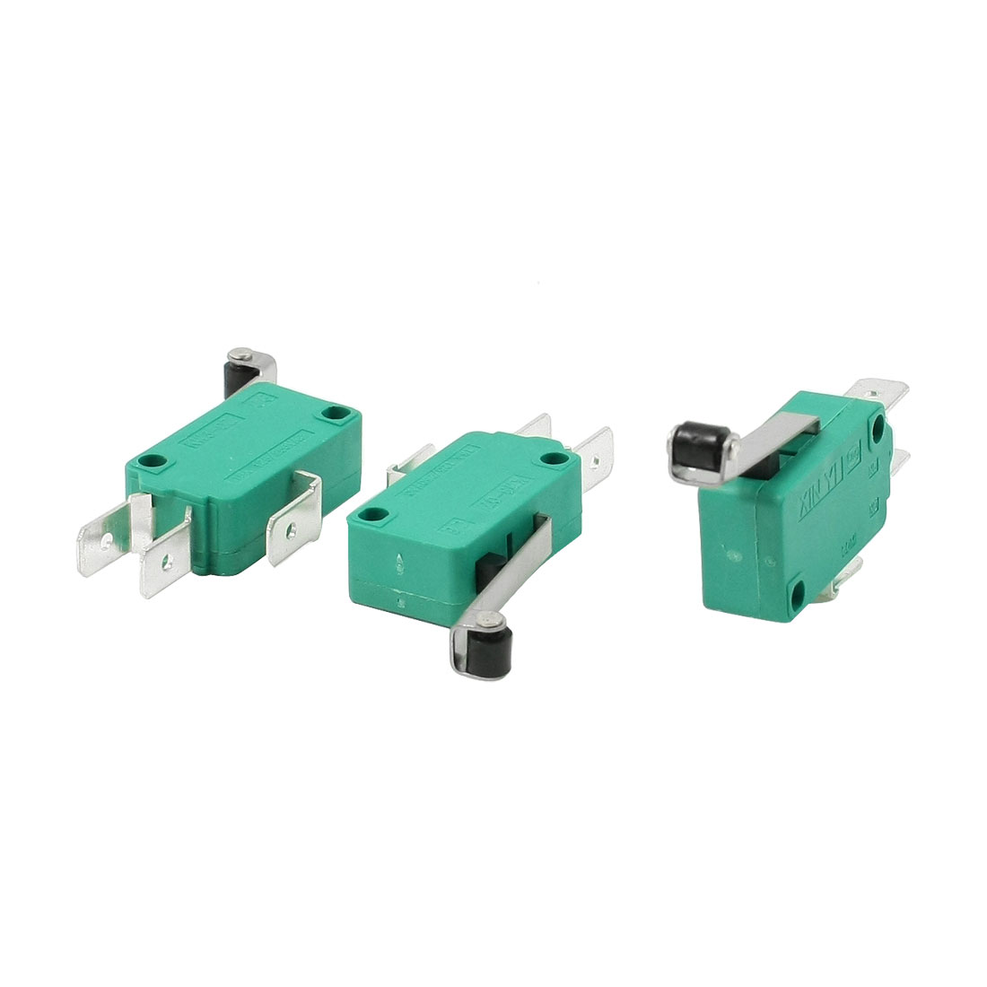 3-Pcs-AC-250V-16A-SPDT-Long-Hinge-Roller-Lever-Momentary-Micro-Switch-Green