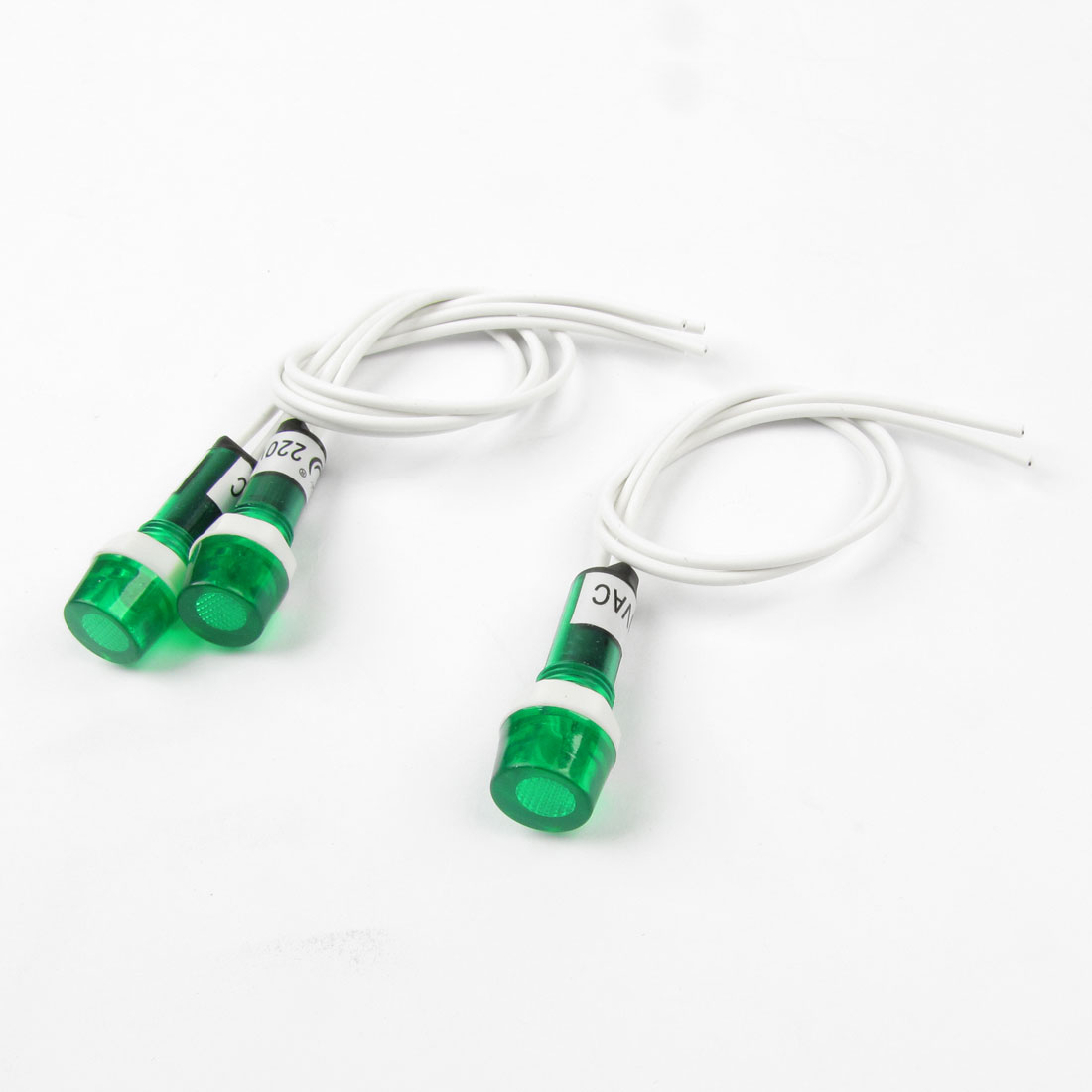 AC-220V-Green-Water-Heater-Indicator-Light-w-8-1-Length-Cable-3Pcs