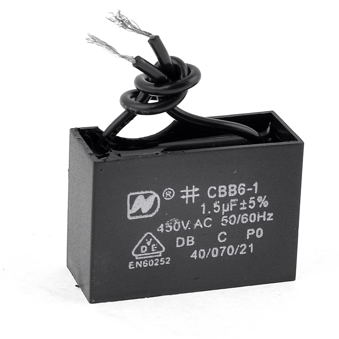 CBB61-AC-450V-1-5uF-5-2-Wires-Lead-Motor-Running-Capacitor-Black