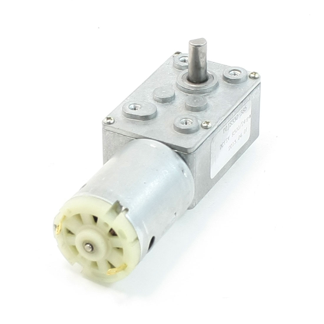 Unique Bargains Rectangle Shaped Gear Box 2 Terminal Electric Geared Motor DC 12V 8300/24RPM at Sears.com