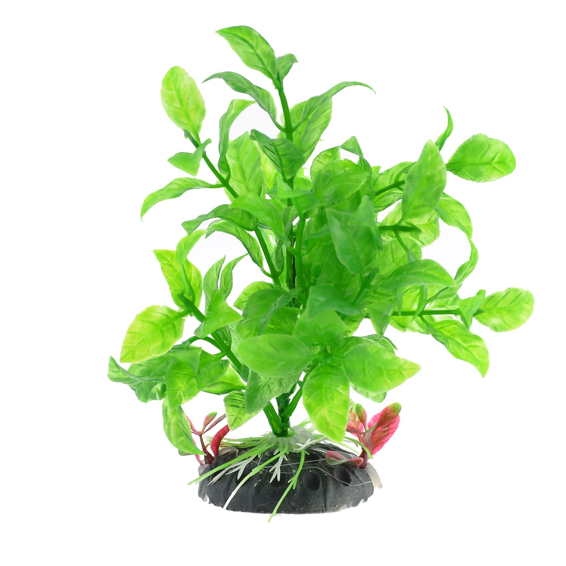 Ceramic-Base-Manmade-Plastic-Green-Vivid-Grass-Plants-5-9-High-for-Fish-Tank