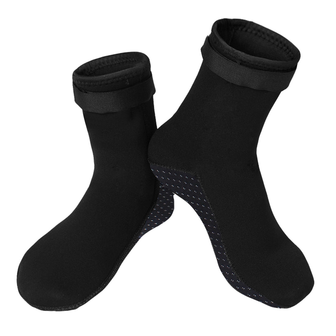 Pair-Black-Dot-Detail-Detachable-Closure-Antislip-Diving-Socks