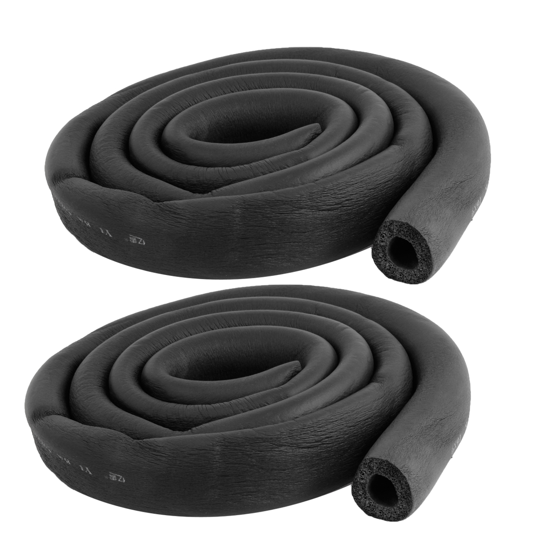 2-Pcs-6Ft-Long-Foam-Hose-5-8-x3-8-Air-Conditioner-Heat-Insulation-Pipe-Black