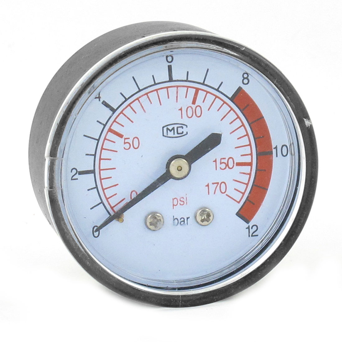 Black-Air-Compressor-Pressure-Gauge-1-4-PT-Brass-Thread-Dia-160-PSI