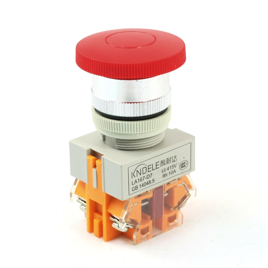 DPST-Momentary-415V-Ui-10A-Ith-Red-Mushroom-Head-Pushbutton-Switch
