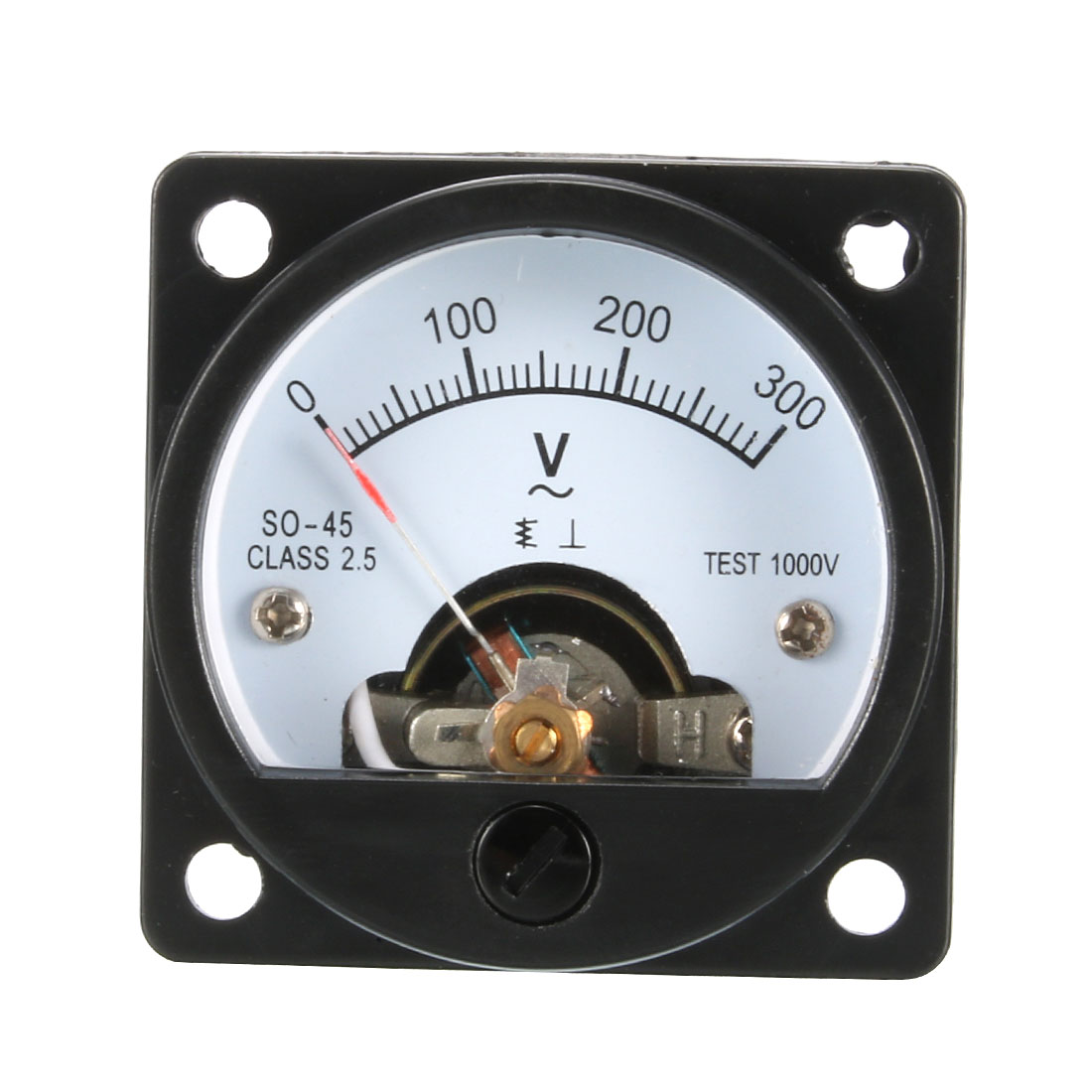 Plastic-AC-0-300V-Range-Analog-Voltmeter-Voltage-Gauge-Panel-Meter