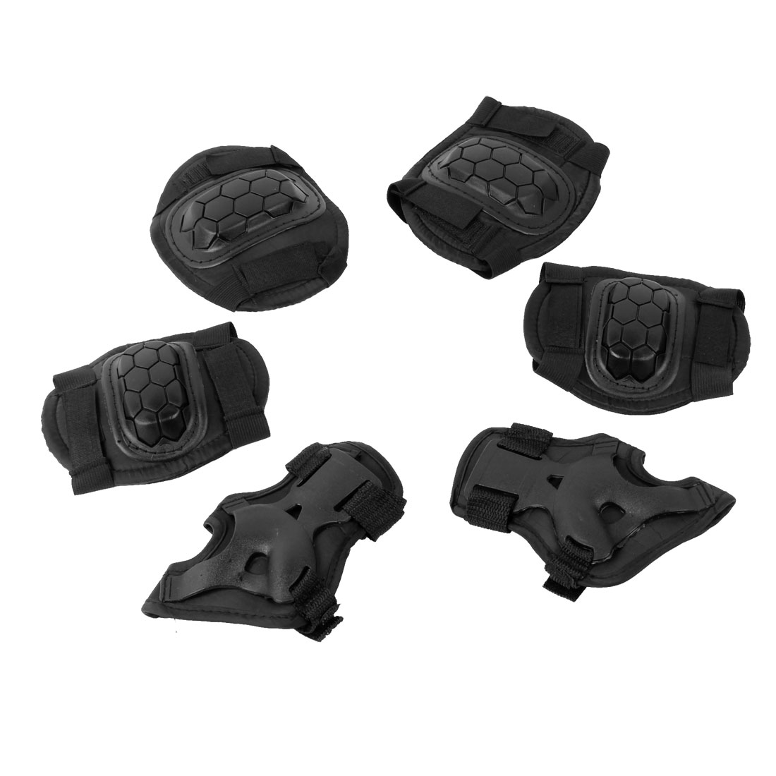 Unique Bargains Child Skating Skiing Knee Palm Elbow Support Pad Protector Brace 3 Pairs Black at Sears.com
