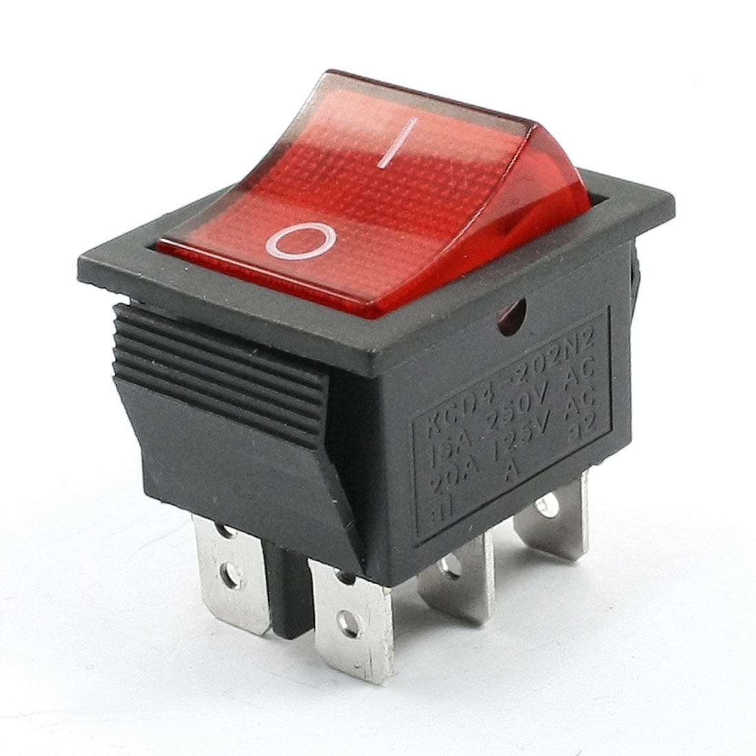 Illuminated-Red-Light-DPDT-On-Off-Snap-in-Rocker-Switch-15A-250VAC-20A-125VAC